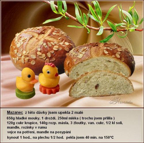recept na velikonoční mazanec